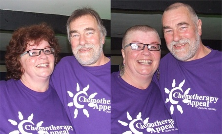 Pictured: Jo and Colin Watson - Before and After