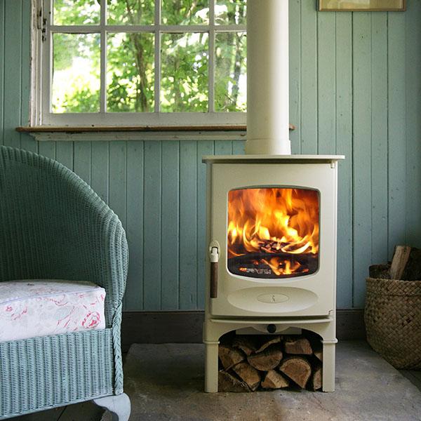 burning wood environment