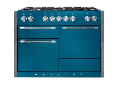 Mercury blue range cooker from Rangemoors