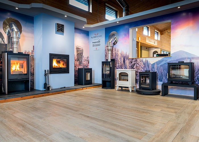 wood burner showroom devon